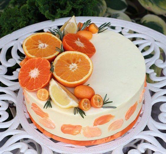Orange Cake Decoration Ideas